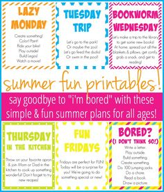 How To Plan A Simple, Fun Summer For Your Kids (And You!) :: Free Printables Included! - kayse pratt