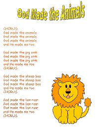 God Made the Animals with printable template