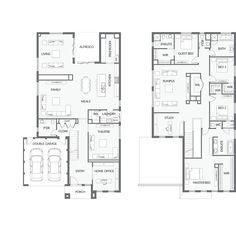 Modern Home Decor Bedroom 4 Bedroom House Plans, Dream House Plans, House Floor Plans, Home Decor Bedroom, Master Bedroom, Double Storey House Plans, Double Story House, Building Plans, Building A House