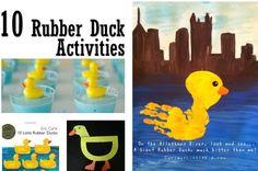 10 Rubber Duck Activities from www.curiouslittlekid.com