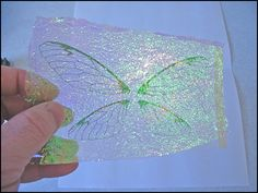 Tutorial for making Iridescent wings..could use this with cards.