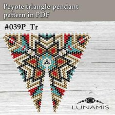 Peyote triangle patterns pattern for triangle pendant peyote