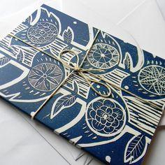 bird lino cut print handmade book