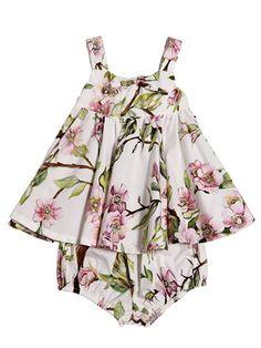 COTTON POPLIN DRESS SET Dolce & Gabbana Kids