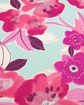 Stretch Cotton Sateen Fabric - Watercolour Floral Pink