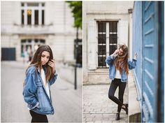 Us Polo Assn Veste En Jean, H&M White Sweater, Zara Black Jeans, Jonak Cut Out Boots