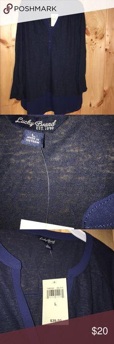 Lucky Brand top Lucky Brand long sleeve top Lucky Brand Tops Tees - Long Sleeve