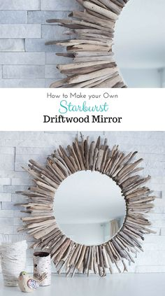 When you drop by Sustain My Craft Habit you are going to find a fabulous and Easy DIY for a Starburst Driftwood Mirror that will bring that cool ocean breeze into your home! This would be a perfect weekend DIY…you will be hanging it by Saturday evening.