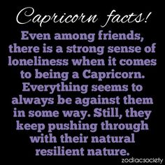 capricorn. Nobody truly understands how often I feel like this. I just try to never let it show.