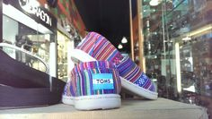Tiny purple woven textile Toms available at Red E Surf, the Shoppes at Chino Hills