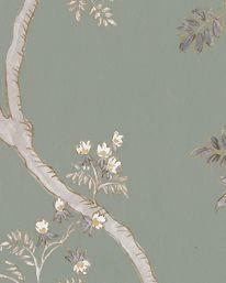 Tapet Indienne Green Glaze från Lewis & Wood