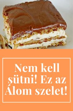 Hungarian Desserts, Hungarian Recipes, No Bake Desserts, Dessert Recipes, Sweet Recipes, Cookie Recipes, Good Food, Food And Drink, Sweets