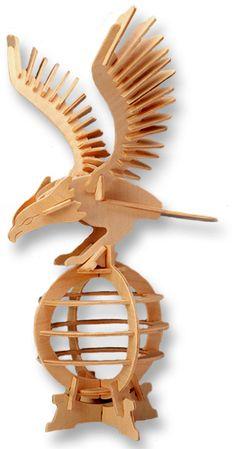 3D Puzzle Eagle dxf file