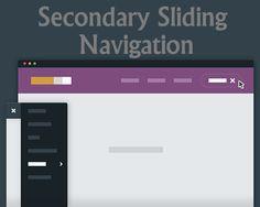 Secondary Sliding Navigation