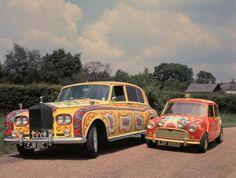 John Lennon's Rolls Royce  George Harrison's Mini.