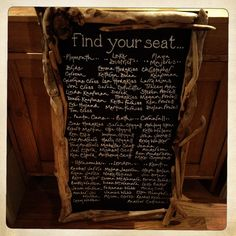 - DRIFTWOOD FRAMES & BLACKBOARDS Hand made driftwood frames & blackboards can be made to order.  They are perfect for displaying seating plans, table names/numbers, menus, photos and events of the day.