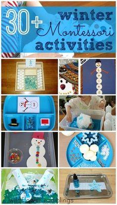 Montessori Winter Activities Winter Activities For Kids, Winter Crafts For Kids, Winter Fun, Christmas Activities, Craft Activities, Toddler Activities, Preschool Winter, January Preschool Themes, Winter Ideas