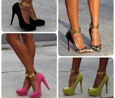 Thick Metal Ankle Cuffs
