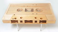 Hand crafted by Jeff Skierka, the Mixtape table is a 12:1 scale replica of the real (or should we say 'reel') thing. #audiophile #music #furniture