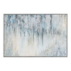 Oversized Abstract Running Colors Artwork – Grey & Blue