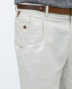 Image 6 of BASIC SHORTS WITH BELT from Zara