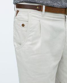 Image 6 of BASIC SHORTS WITH BELT from Zara