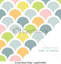 Abstract colorful fishscale corner frame pattern background - csp20147893