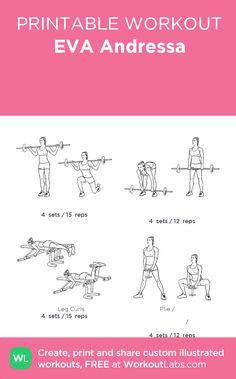 EVA Andressa ягодицы тренировки:my custom printable workout by @WorkoutLabs #workoutlabs #customworkout