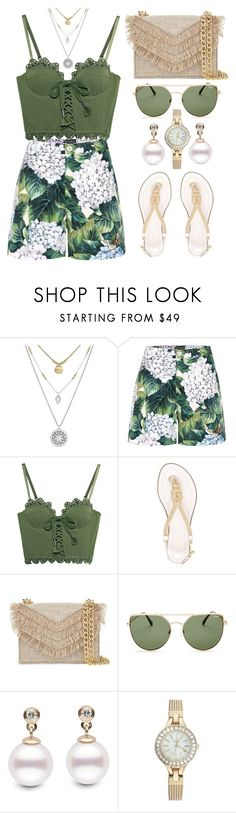 """""""Tropical Vacation"""" by the-messiah ❤ liked on Polyvore featuring Lucky Brand, Dolce&Gabbana, Puma, MICHAEL Michael Kors, Cynthia Rowley, Quay and Catherine Catherine Malandrino"""