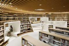Kikuchi City Central Library by Nomura Co.: 2018 Best of Year Winner for Library Public Library Design, City Library, Central Library, Bookstore Design, Central City, Library Books, Library Architecture, Interior Architecture, Interior Design
