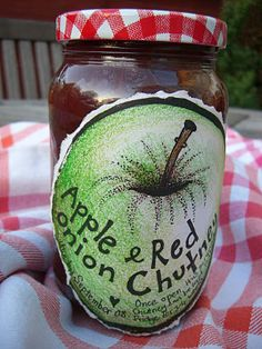 Apple & red onion chutney