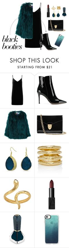 """""""not-so-basic Black Bootie"""" by zahra-mclaughlin on Polyvore featuring rag & bone/JEAN, Gianvito Rossi, MANGO, Aspinal of London, Bling Jewelry, Wasson, Madina Visconti di Modrone, Oribe and Casetify"""