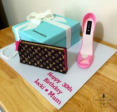 Tiffany, Louis Vuitton theme cake by https://www.facebook.com/SweetSurpriseCakes1/