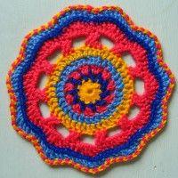 Crochet Mandala Wheel made by Nuraishikin, Australia, for yarndale.co.uk