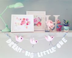 Dream big little one wall or door garland by Thesecretcrafthouse