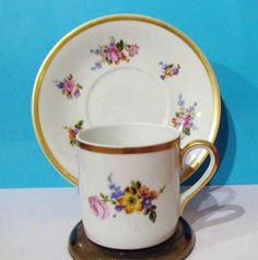 CUP-SAUCER-ANTIQUE-CEREBEL-Espresso-Demitasse-Floral-Design-Made-in-Belgium