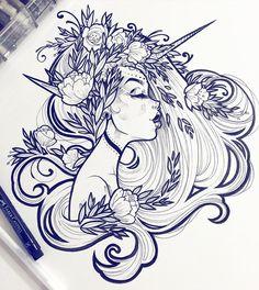 draw, art, and illustration kép Art Inspo, Inspiration Art, Art And Illustration, Portrait Illustration, Drawing Sketches, Cool Drawings, Art Drawings Beautiful, Drawing Faces, Pencil Drawings