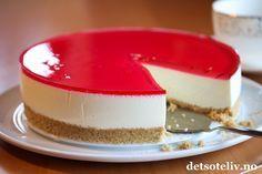 Ekstra lett ostekake, med mager vaniljekesam og ekstra lett rømme.