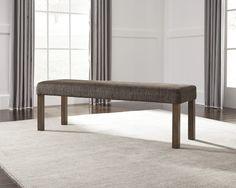 Ashley Furniture Signature Design Larchmont Large UPH Dining Room Bench Burnished Dark Brown