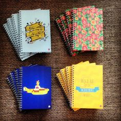 Cadernos organizers: Andar com fé + Flowers + Yellow Submarine + Dia Incrível #notebook