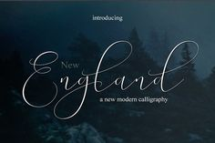 NEW England - Launch Price by MrLetters on @creativemarket
