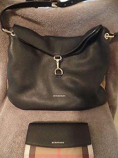 Burberry 'Medium Cornwall' Calfskin Leather Shoulder Bag & Wallet