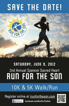 Church Fundraising Event Ideas: 10k Run For The Son event with 5K run/walk as well. Nice fun church fundraiser event with mass appeal.