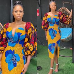 35 Latest Ankara short Gown styles for African Women 2020 African Fashion Ankara, Latest African Fashion Dresses, African Print Dresses, African Print Fashion, African Dress, Ghanaian Fashion, African Prints, African Attire, African Wear