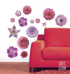 Flower Power Wall Decal by Calvin Tucker at Art.com