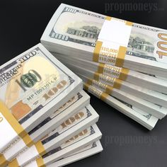 $100,000 Full Print Stacks - New Style Full Print Prop Money
