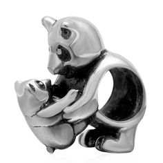 Babao Jewelry Bear Mother and Child 925 Sterling Silver Bead fits Pandora European Charm Bracelets >>> Be sure to check out this helpful article. #Charms