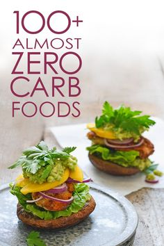 Ditch your nervous carb counting 100 ways. Printable list of the healthiest foods with almost no carbs.