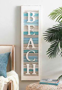 Use charming beachy shutters as wall decor. These shutter wall decor ideas will give you ideas how to use shutters as home decor. Featured on Completely Coastal. Classic Home Decor, Unique Home Decor, Vintage Home Decor, Home Decor Items, Cheap Home Decor, Modern Decor, Shutter Wall Decor, Hm Home, Rustic Home Interiors