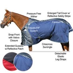 "Showman 78/"" PURPLE//BLACK 1200 Denier Waterproof Turnout Horse Blanket NEW TACK!"